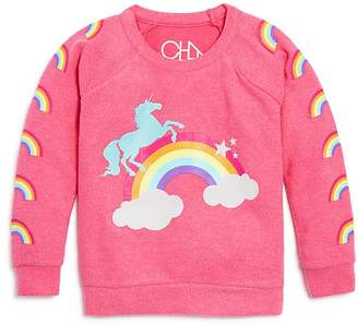 Chaser Girls' Unicorns & Rainbows Sweater - Big Kid