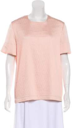 Cédric Charlier Pleated Short Sleeve Top