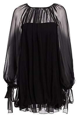 Alberta Ferretti Women's Silk Chiffon Mini Dress