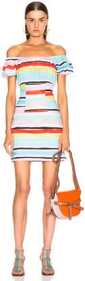Caroline Constas Calla Mini Dress in White Multi | FWRD