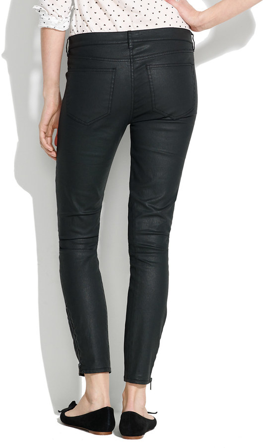 Madewell Skinny Skinny Ankle Coated Motorcycle Jeans