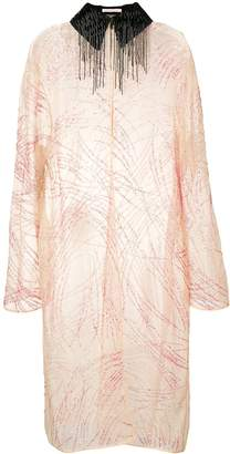 Christopher Kane sequin embroidered coat