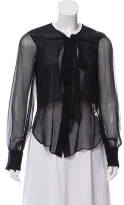 Alvin Valley Silk Sheer Top