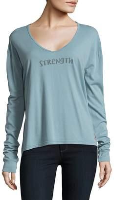 Peace Love World Women's Arna Cluda Strength V-Neck Top