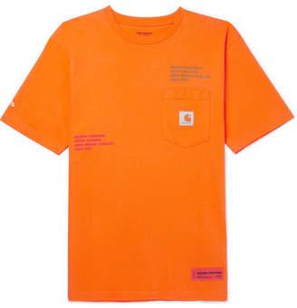 Carhartt Heron Preston + Oversized Embroidered Cotton-Jersey T-Shirt