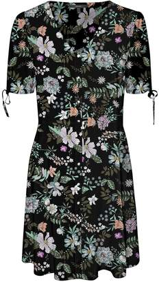Dorothy Perkins Womens **Vero Moda Multi Coloured Floral Print Skater Dress