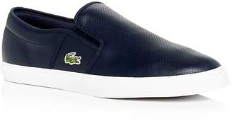 Lacoste Men's Gazon Perforated Leather Slip-On Sneakers