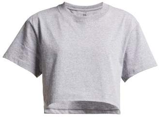 Hanes X Karla - The Crop Cotton Jersey T Shirt - Womens - Grey