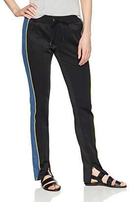Pam & Gela Women's Cigarette Track Pant with Denim Stripe