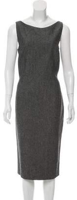 John Galliano Tweed Sleeveless Dress