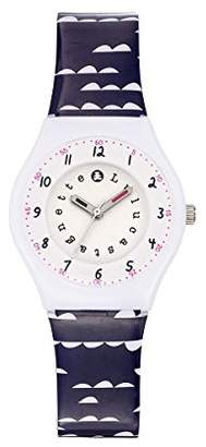 Lulu Castagnette Girl's Quartz Watch with Silver Dial Analogue Display and Plastic Multicolour - 38790