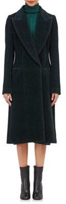 Maison Margiela Women's Shawl-Collar Brushed Coat-TURQUOISE $2,940 thestylecure.com
