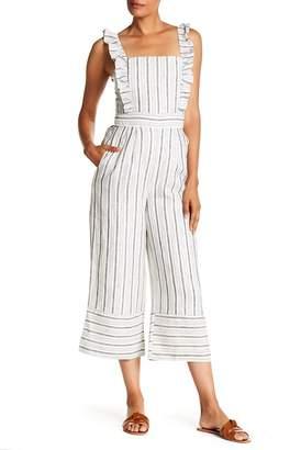Lucca Couture Ruffle Trim Stripe Jumpsuit