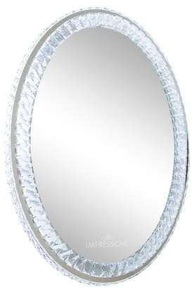 Co Impressions Vanity Diamond Collection Oval LED Wall Mirror