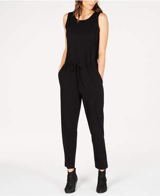 Eileen Fisher Sleeveless Drawstring-Waist Jumpsuit, Regular & Petite