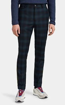 Paul Smith Men's Side-Striped Plaid Wool Slim Trousers - Navy