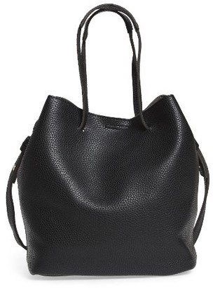 Street Level Faux Leather Bucket Bag - Black $54 thestylecure.com