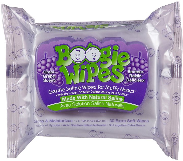 Boogie Wipes Extra Soft Wipes - Grape - 30 ct