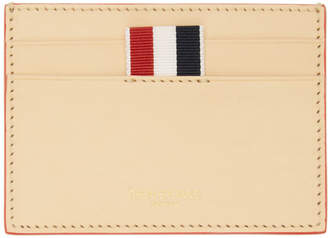 Thom Browne Tan Embossed Toy Icon Single Card Holder