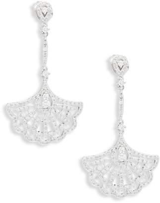 KC Designs Women's Diamond & 14K White Gold Fan Earrings