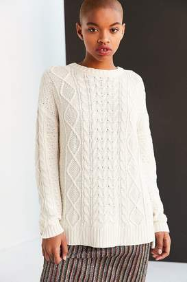 BDG Cable High/Low Crew Neck Sweater $59 thestylecure.com