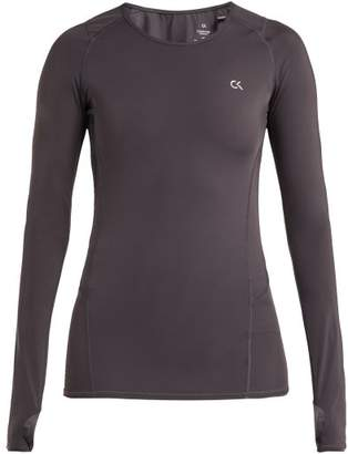 Calvin Klein Compression Long Sleeved T Shirt - Womens - Dark Grey