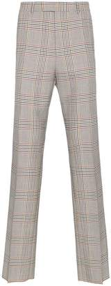 Gucci tailored retro check wool trousers
