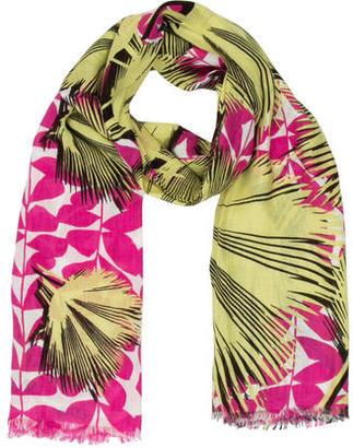 Diane von Furstenberg Floral Print Scarf $55 thestylecure.com
