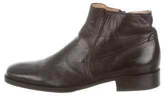 Bruno Magli Leather Square -Toe Ankle Boots