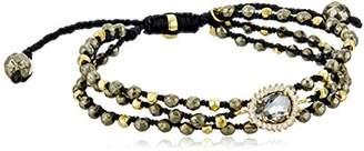 Tai Triple Charcoal Stone Strand Bracelet
