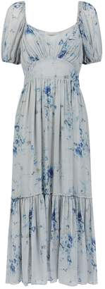 LoveShackFancy Angie Floral Silk Dress