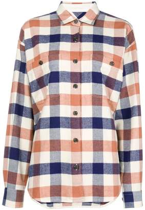 Closed check long-sleeve shirt