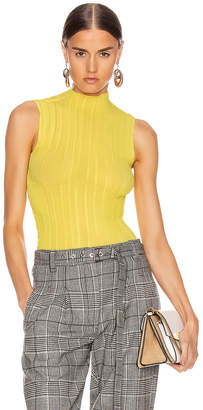 Givenchy Pleated Sleeveless Top in Bright Yellow | FWRD