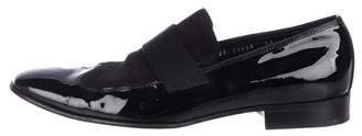 Salvatore Ferragamo Patent & Suede Wingtip Loafers