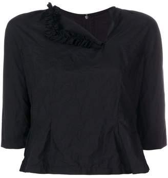 Comme des Garcons cropped asymmetrical neck blouse