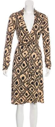 Diane von Furstenberg Vintage Printed Silk Dress