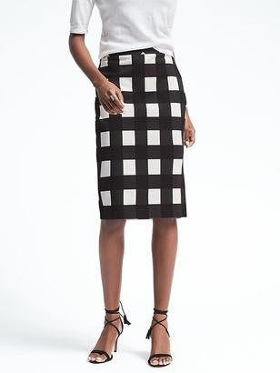 Gingham Midi Pencil Skirt $88 thestylecure.com