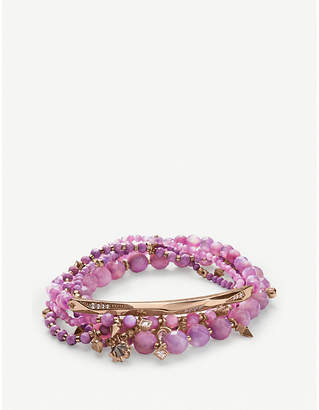 Kendra Scott Supak 14ct rose gold-plated beaded bracelet