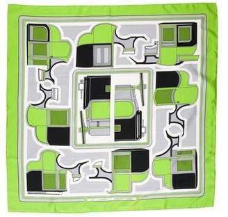 Hermes Les Coupes Silk Scarf