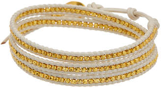 Chan Luu 18K Over Silver Leather Wrap Bracelet