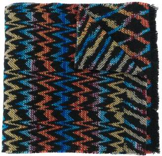 Missoni long knitted scarf