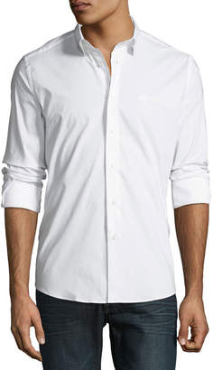 Roberto Cavalli Men's Slim-Fit Dress Shirt, White