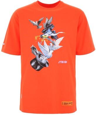 Heron Preston Doves Print T-shirt