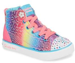 Skechers Twinkle Toes Breeze 2.0 Light-Up High Top Sneaker