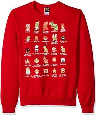 Nintendo Unisex-Adult's Men's Pixel Cast T-Shirt
