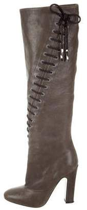 Nina Ricci Leather Knee-High Boots