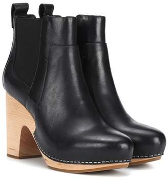 Veronica Beard Camila leather ankle boots