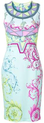 Versace fitted printed dress