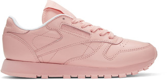 Reebok Classics Pink Classic Leather Pastels Sneakers $85 thestylecure.com