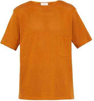 Lemaire Sunspel X Perforated Cotton Jersey T Shirt - Mens - Orange